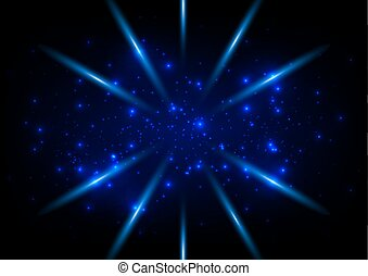 abstract blue ligth space concept  background