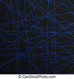 abstract blue lines laser