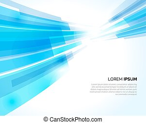 Abstract blue lines light business background. Vector illustration.