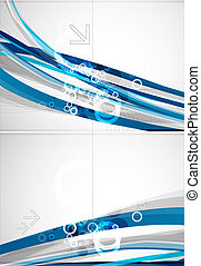 Abstract blue lines vector brochure
