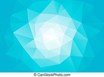 blue low poly background, vector