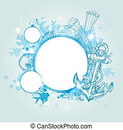 Abstract  blue marine background