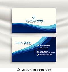 abstract blue modern business card design template