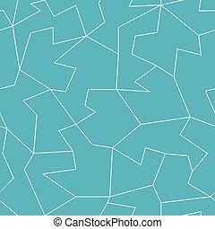abstract blue mosaic seamless pattern