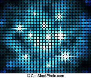 Abstract blue mosaic sparkling vector background.