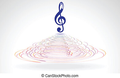 abstract blue musical word