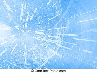 Abstract blue nanotechnology 3d illustration