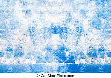 Abstract blue painted surface, background/texture.