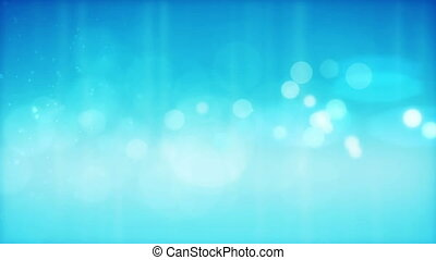 Abstract blue  particles background