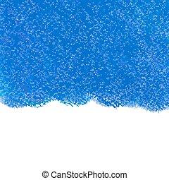 Abstract blue pastel crayon vector