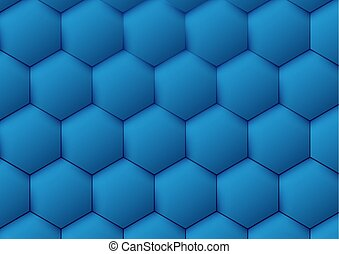 Abstract blue pattern hexagon background. Vector Illustration