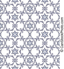 Abstract blue pattern seamless