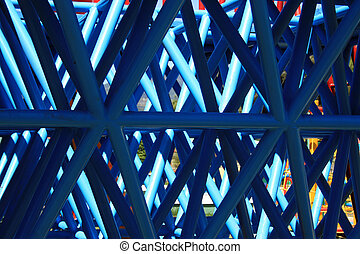 Abstract Blue Pipes