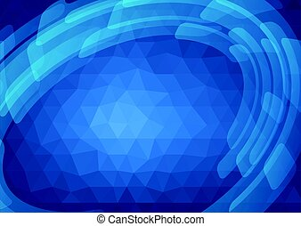 Abstract blue polygonal background