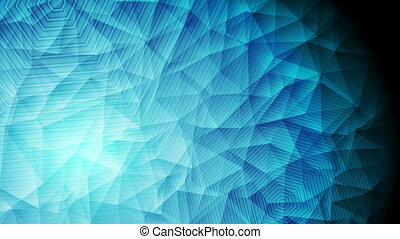 Abstract blue polygonal tech video animation