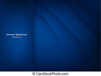 Abstract blue premium background with copy space.