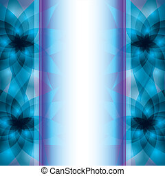 Abstract blue - purple background with flowers lilies