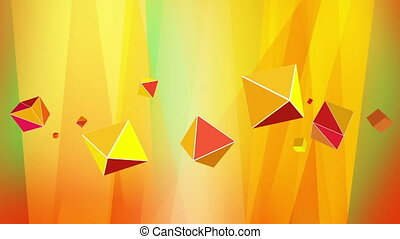 Abstract blue purple background with octahedrons