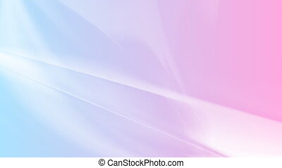 Abstract blue purple smooth waves video animation