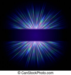 blue ray light - abstract blue ray lights over dark gradient