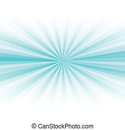 Abstract blue rays burst on white