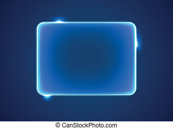 Abstract blue rectangle placeholder - Abstract transparent...