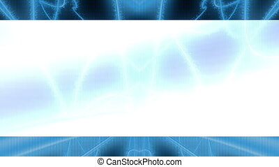 Abstract blue science fiction looping animated background...