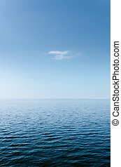Abstract Blue Sea and Sky