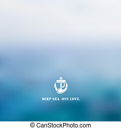 Abstract blue sea background
