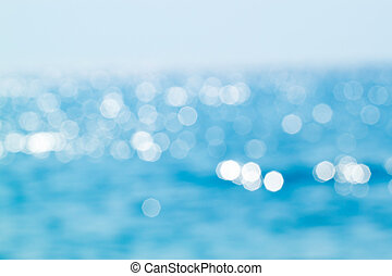 Abstract blue sea bokeh for background use
