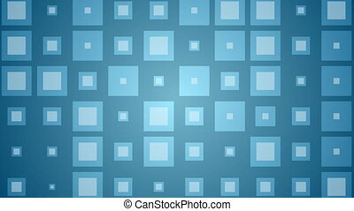Abstract blue shiny squares video animation