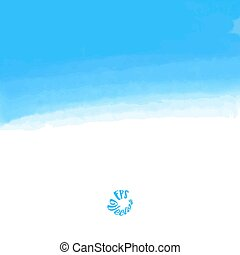 Abstract blue sky watercolor background