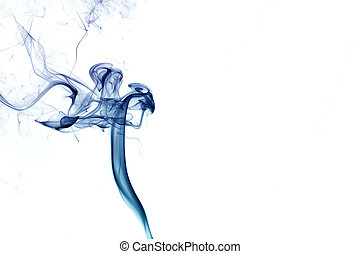 Abstract Blue Smoke - Abstract blue smoke isolated on a ...
