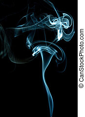 abstract blue smoke isolated