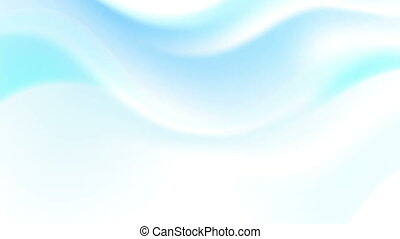 Abstract blue smooth dotted waves video animation - Abstract...