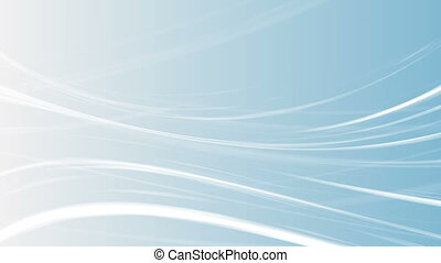 Abstract blue smooth elegant waves video animation