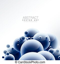 abstract blue sphere molecules background