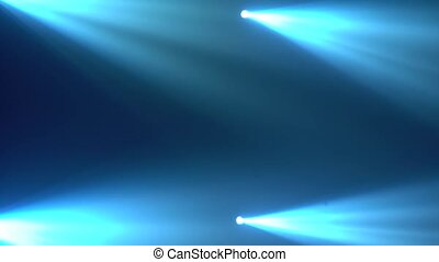 Abstract blue spot light with smoke on a dark background