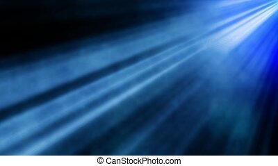 Abstract blue spot light with smoke