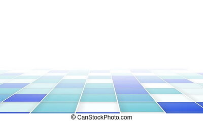 abstract blue squares loopable background