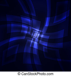 blue squares on a dark background