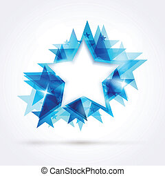 Abstract blue star