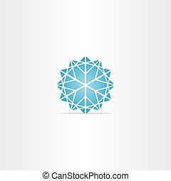 abstract blue star snowflake symbol