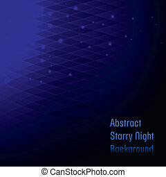Abstract blue starry night background