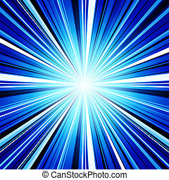 Abstract blue stripes burst background