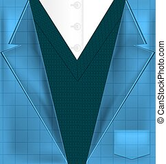 abstract blue suit and vest