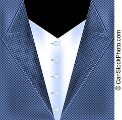 abstract blue suit