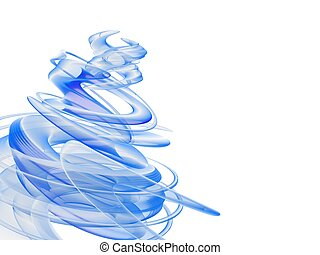 abstract blue swirl
