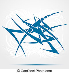Abstract blue tattoo