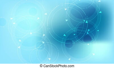 Abstract blue tech circles video animation